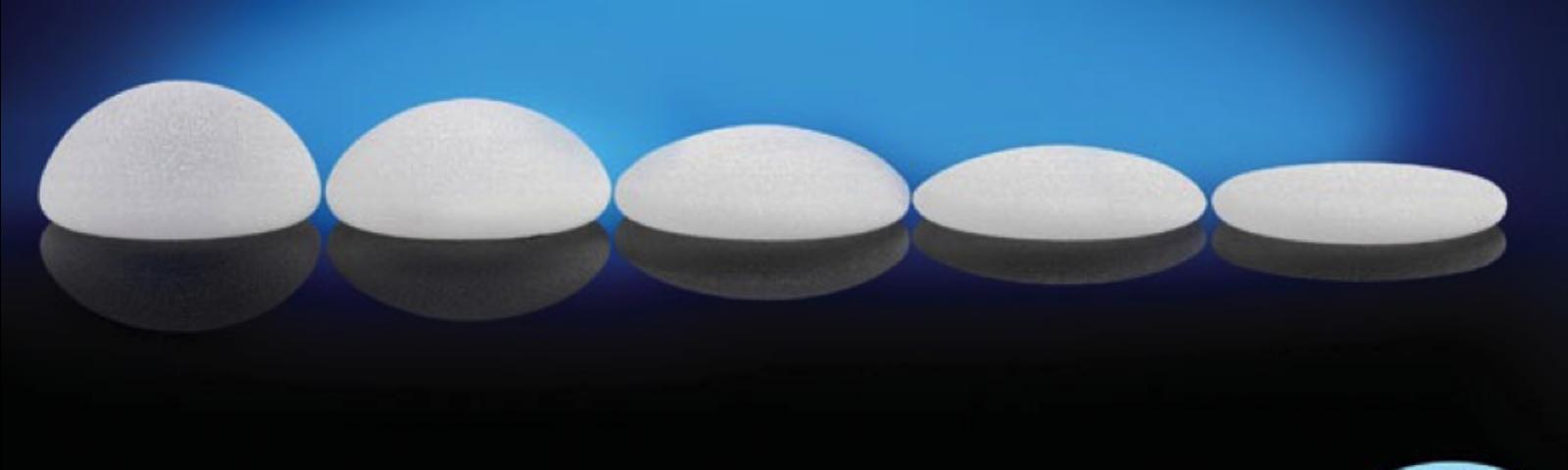 Implant sizes natrelle